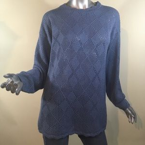 Jacklyn Smith Women's Medium Tunic Diamond Sweater